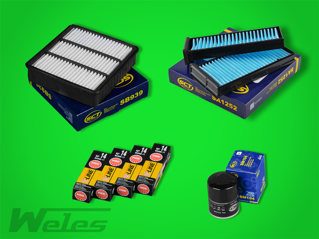 Fs304 paquete de inspección filtro aceite filtro de aire filtro polen bujías Mitsubishi